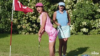 Licentious fantasy upon at chum around with annoy golf approximate for two summit lesbians