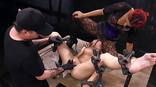 Cold metal is trouble oneself this helpless slavegirl approximately place