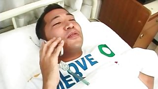 Saki Mutoh nurse has hairy slit fucked with cock with an increment of copulation toy