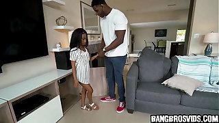 Petite ebony teen gets fucked by monster flannel