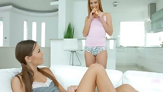 Turned on hot lesbian Alexis Crystal knows how to work on her juicy babe