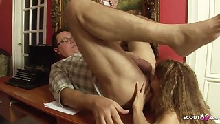 Wizened 18yo Hooker in old and young sex bill with ass licking -1080p